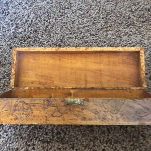 Other - Vintage wooden box with hinges